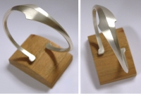 Hammer-forged  Sterling Silver