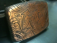 Custom Etched Copper Buckle
