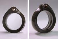 Smoked acrylic, copper cloth/tubing